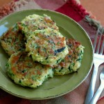 Zucchini Cakes with Feta and Red Onion