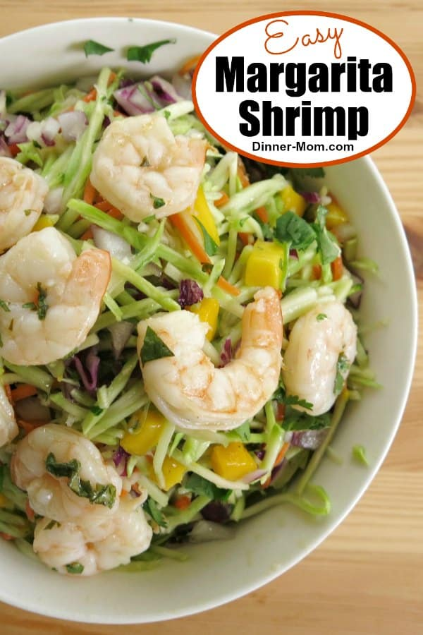 Easy Margarita Shrimp and Slaw Recipe pin