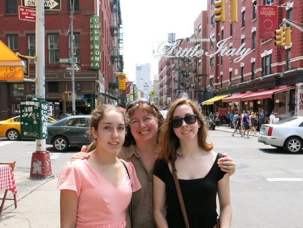 Me and girls in Little Italy