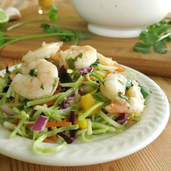 Margarita Shrimp and Slaw on a plate