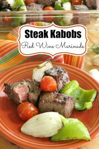 Red Wine Marinade for Steak Kabobs Pinterest
