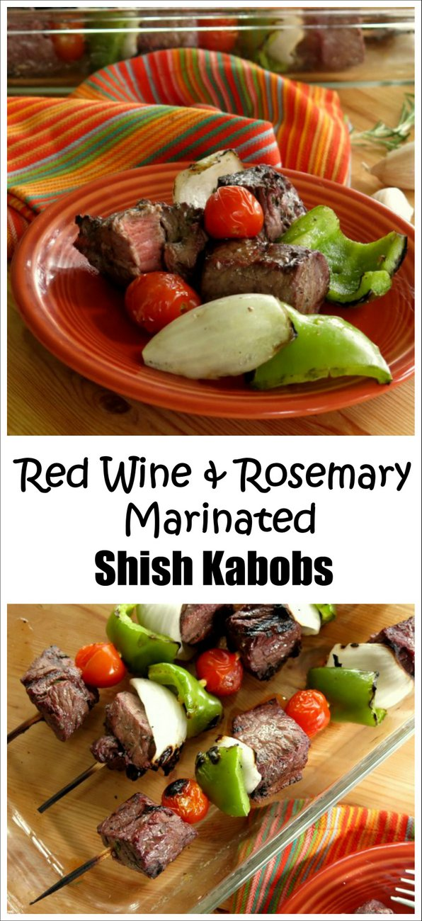 Red Wine and Rosemary Marinated Shish Kabobs