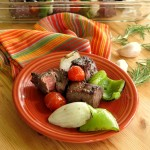 Shish Kabobs in Red Wine Rosemary Marinade #SundaySupper
