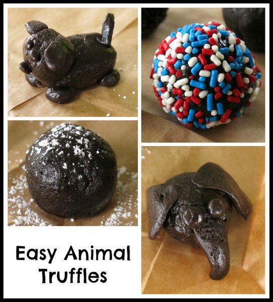 Easy Animal Cookie Truffles