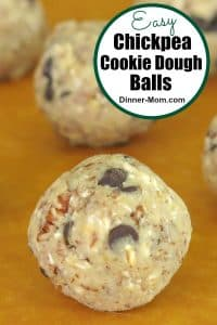 Easy Chickpea Cookie Dough Balls Pin