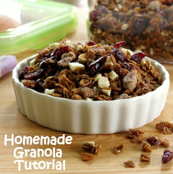 Homemade Granola in a bowl
