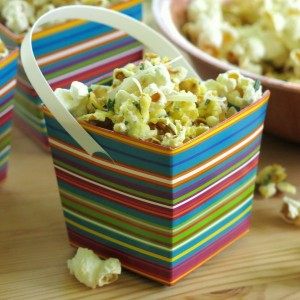 Savory Popcorn Recipe with Parmesan Cheese and Fresh Herbs