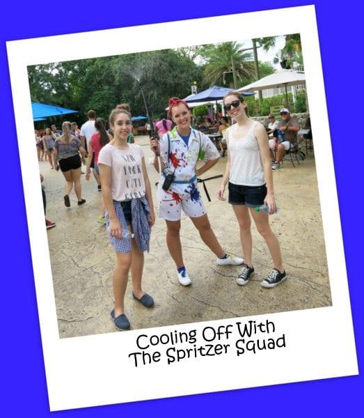 The Spritzer Squad at Busch Gardens, Tampa, FL