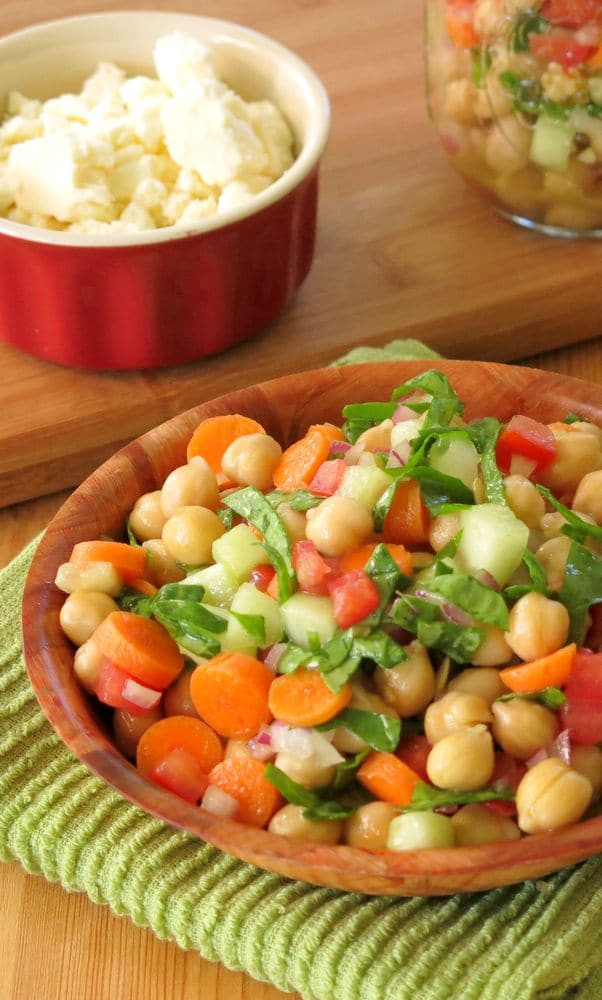Veggie Loaded Chick Pea Salad