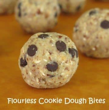 Flourless Chocolate Chip Cookie Bites