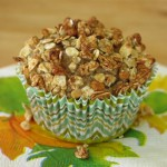 Easy Applesauce Muffins with Crunchy Granola