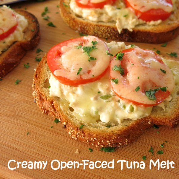 Creamy Open Faced Tuna Melt