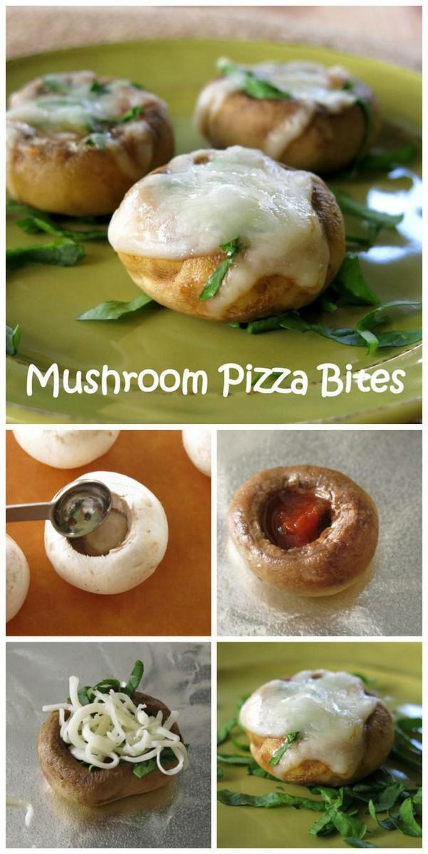 Spinach Mushroom Pizza Bites Recipe