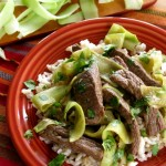 Thai Beef and Shaved Broccoli Stalk Ribbons