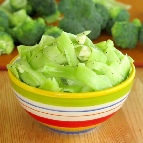 Shaved Broccoli Stalk Ribbon Salad