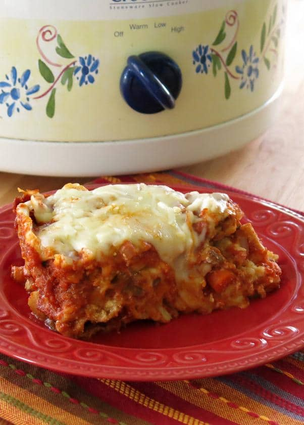 Crock Pot Vegetable Lasagna Recipe