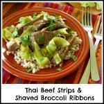 Thai Beef Strips and Shaved Broccoli Stalk Stir Fry Recipe