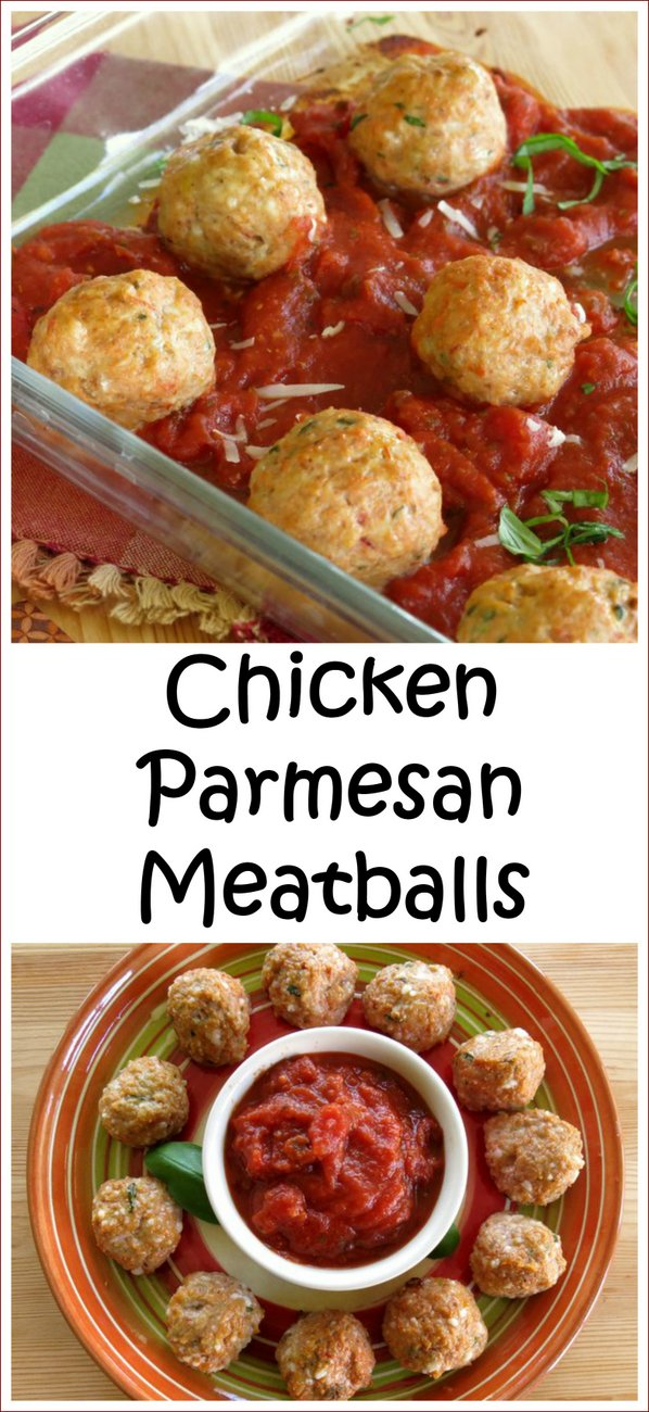 Baked Chicken Parmesan Meatball Recipe