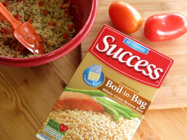 box of boil-in-bag rice
