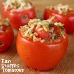 Easy Stuffed Tomatoes with Rice #SuccessRice