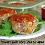 Turkey Meatloaf Muffins with Peach Salsa