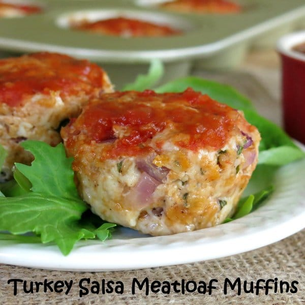 Turkey Meatloaf Muffins with Peach Salsa - The Dinner-Mom
