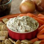 Skinny Caramelized Onion Dip with Greek Yogurt