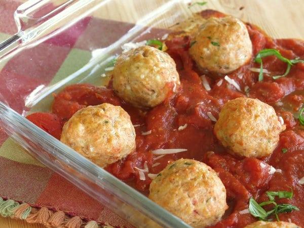 Baked Chicken Parmesan Meatball Recipe
