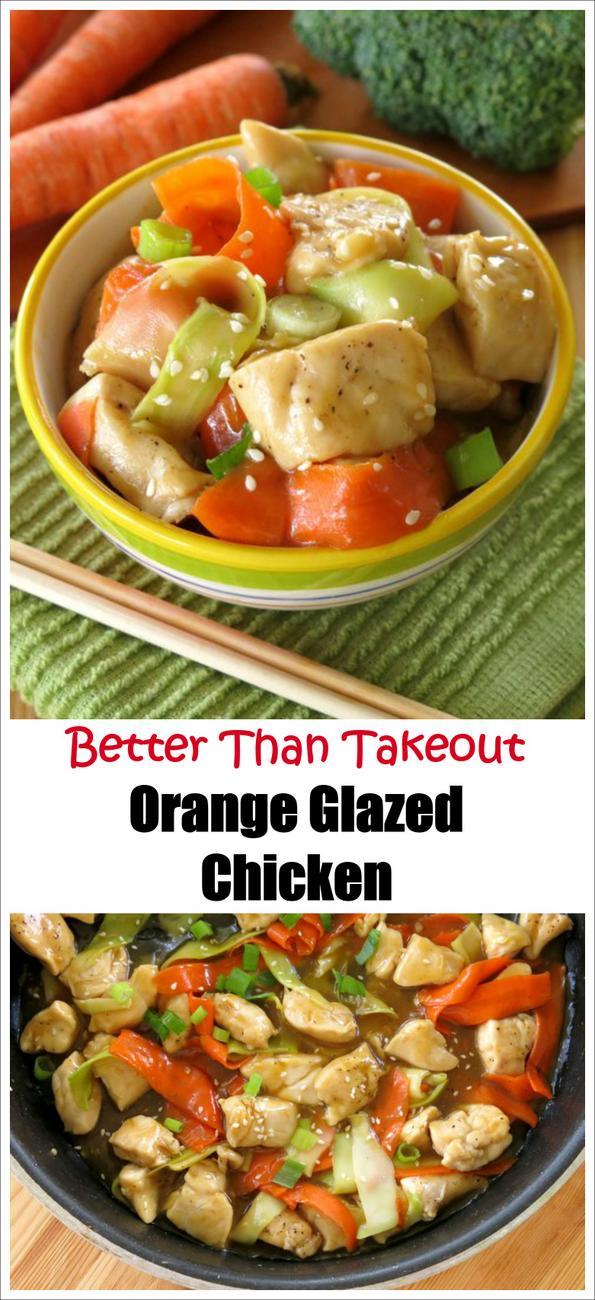 Chinese Orange Glazed Chicken