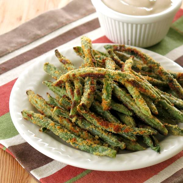 Easy Baked Green Bean Fries Recipe