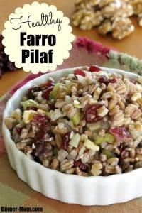 Healthy Farro Pilaf Pin
