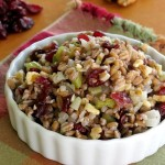 Farro Stuffing with Cranberries and Walnuts #SundaySupper