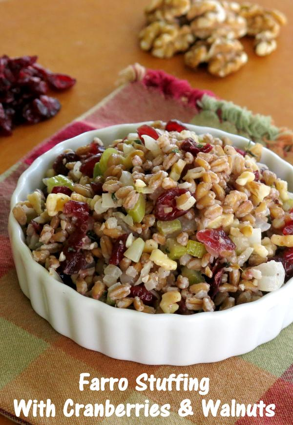 Farro Stuffing with Cranberries and Walnuts Recipe
