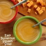 Creamy Butternut Squash Soup with a splash of orange juice