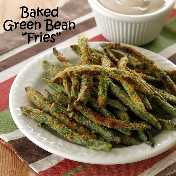 Baked Green Bean Fries with Balsamic Yogurt Dip - The Dinner-Mom