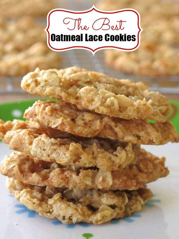 Chewy Oatmeal Lace Cookies
