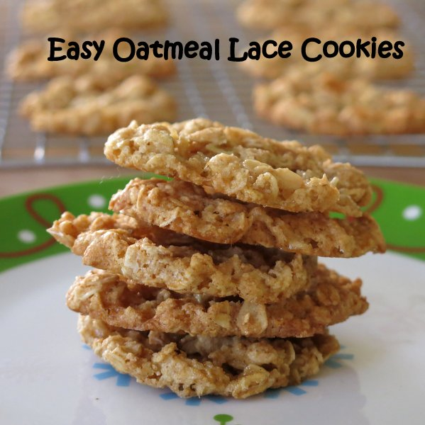 Easy Oatmeal Lace Cookies are light, crispy and very versatile ...