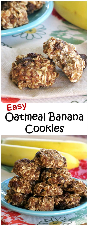 Easy Oatmeal Banana Cookies