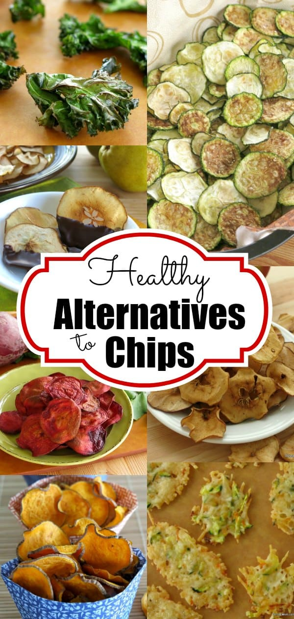 Healthy alternatives to chips that will satisfy your need to crunch and sneak fruits and vegetables into your diet too! Perfect for a lunch box or as a side dish for dinner. #healthychips
