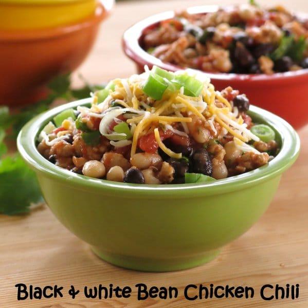 Black and White Bean Chicken Chili Recipe