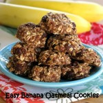 Banana Oatmeal Cookies with Raisins
