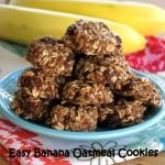 Banana Oatmeal Cookies with Raisins