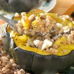 Vegetarian Stuffed Acorn Squash with Farro