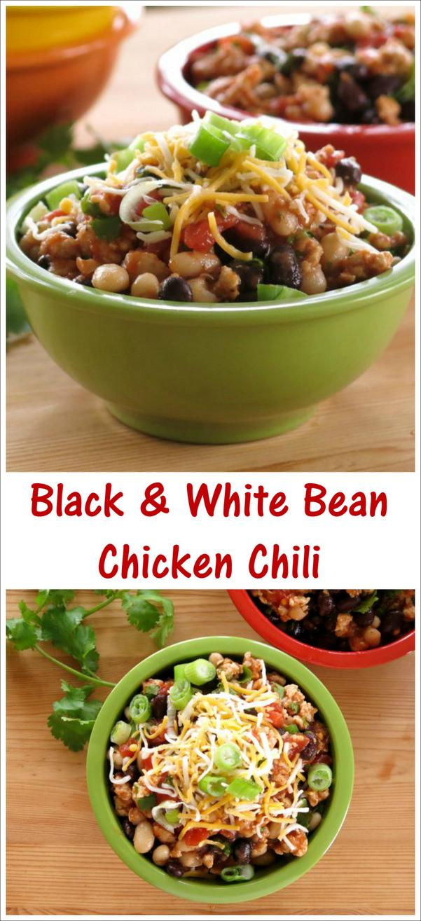 Black and White Bean Chicken Chili Recipe