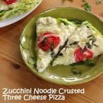 Zucchini Noodle Crusted Three Cheese Pizza
