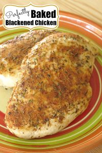 Baked Blackened Chicken Recipe pin