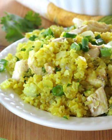 Curried Cauliflower Rice and Chicken