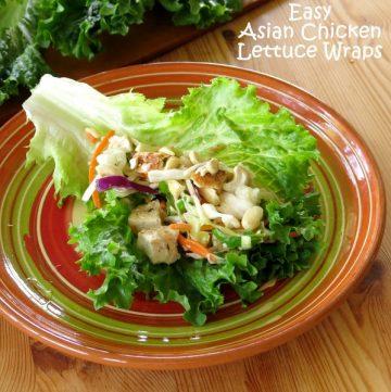 Easy Asian Chicken Lettuce Wrap Recipe