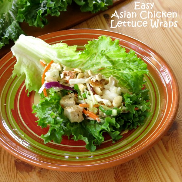 Asian Chicken Lettuce Wraps topped with cashews come together in ...