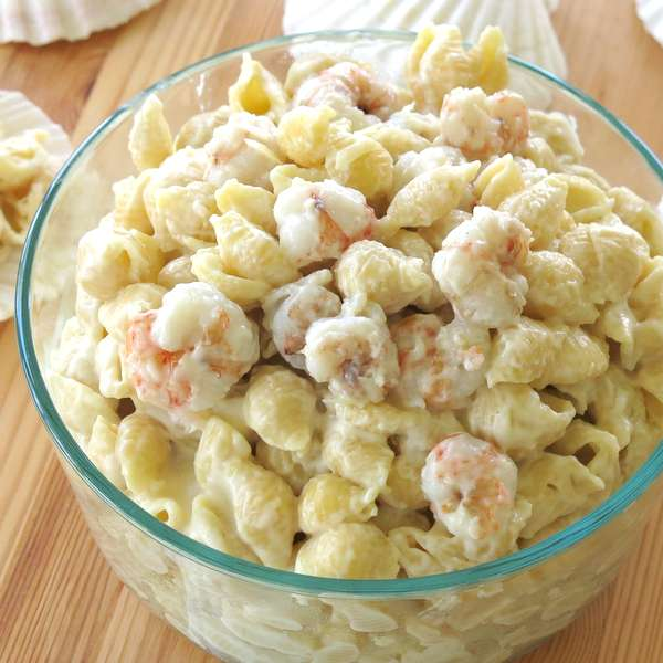 Bowl of Shrimp Mac and Cheese Recipe